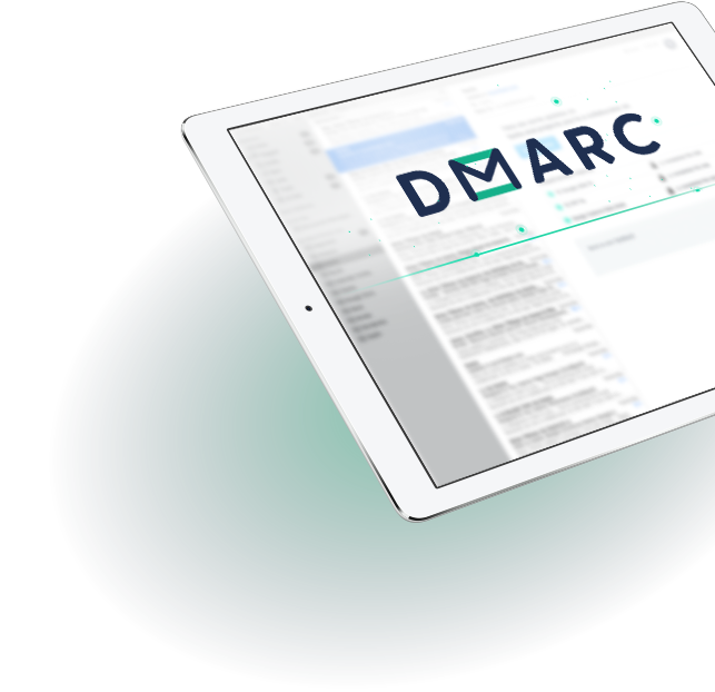 GCA tablet dashboard with DMARC